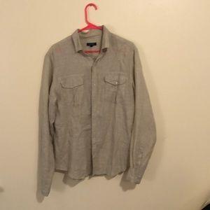 Men's Medium DKNY Linen shirt